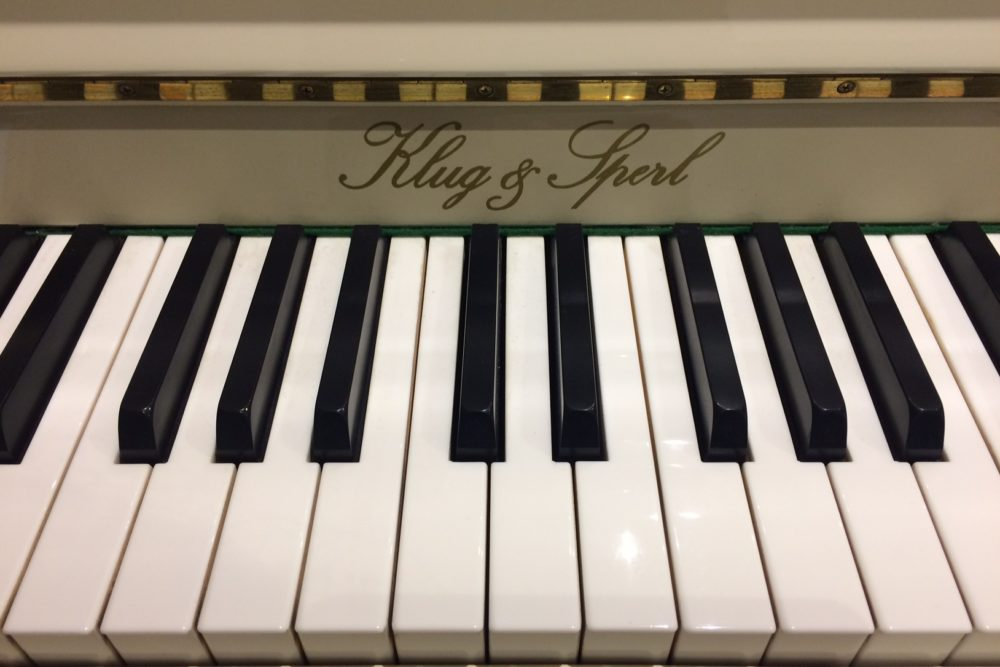 Klug und Sperl Klaviertasten