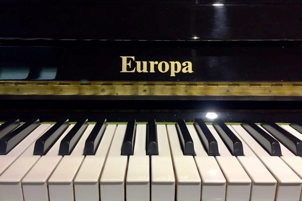 Europa Klaviertasten